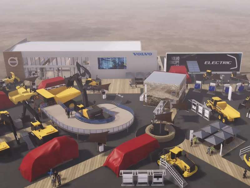 Volvo CE exhibition stand