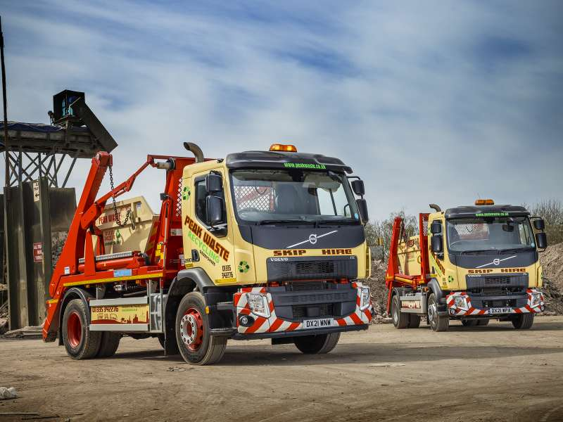New Volvo skip loaders for Peak Waste Recycling