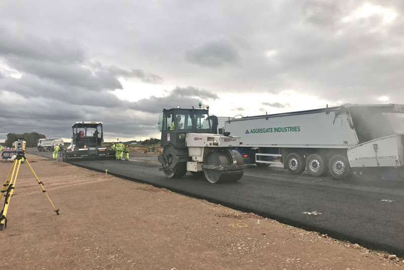 Surfacing work on the A14