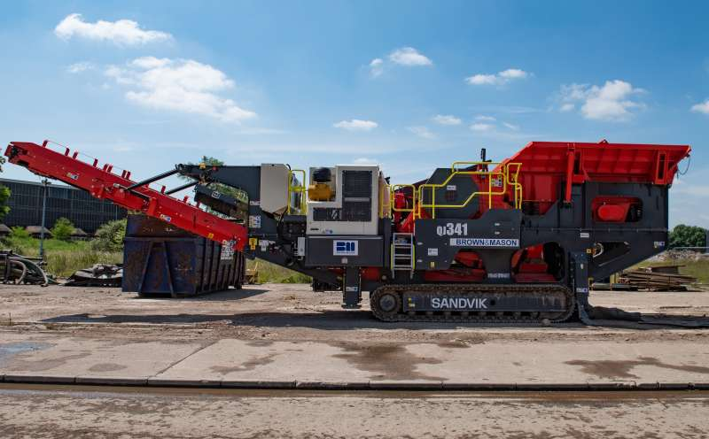 Brown and Mason invest in another Sandvik QJ341 jaw crusher