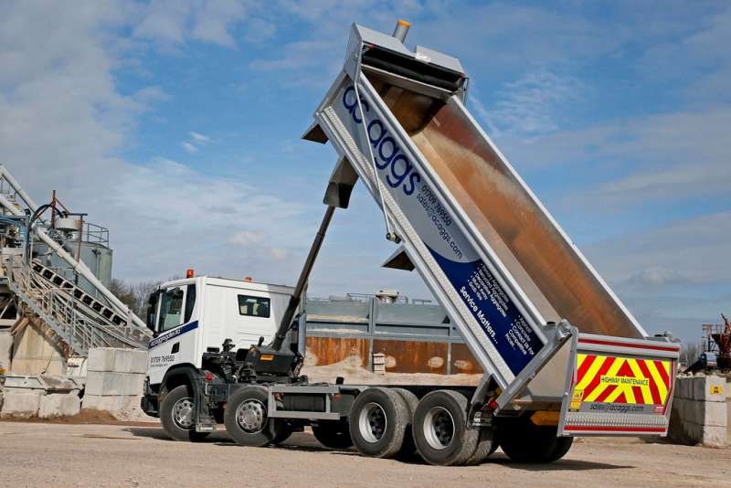 AC Aggregates tipper with Harsh FE tipping gear