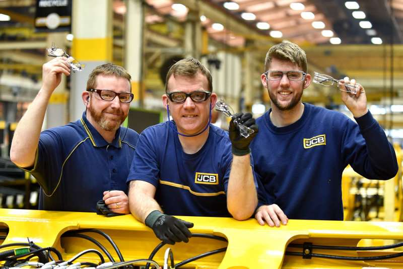 JCB safety glasses