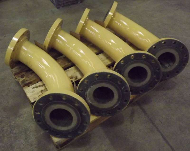 Pipes lined with Kingfisher K-ALOX ceramic liners