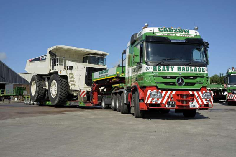 Cadzow Heavy Haulage Take Delivery Of Flagship Mercedes