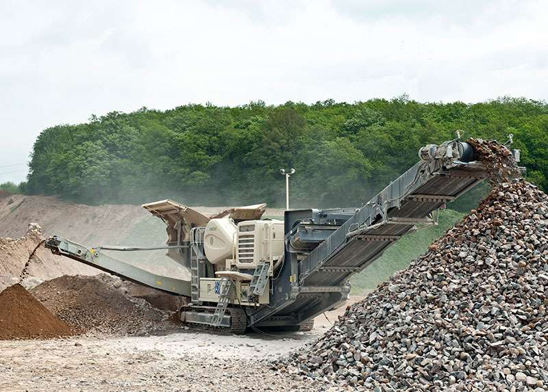 Lokotrack LT120 jaw crusher