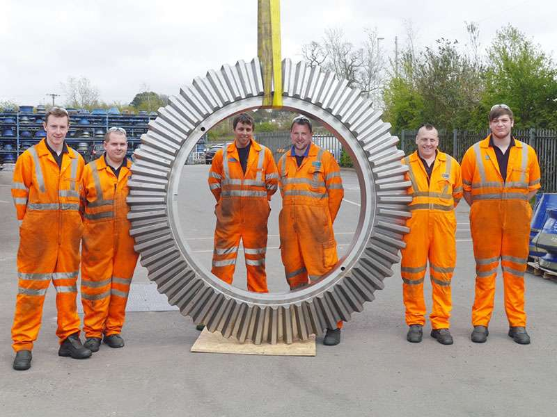 The large bevel gear manufactured by QMS
