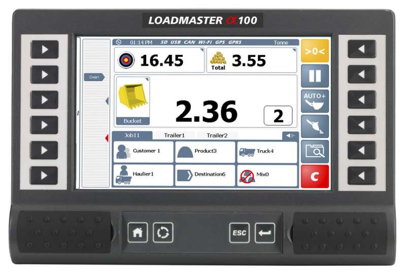 Loadmaster a100 on-board weighing system