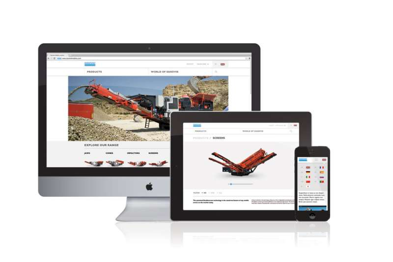 Sandvik website