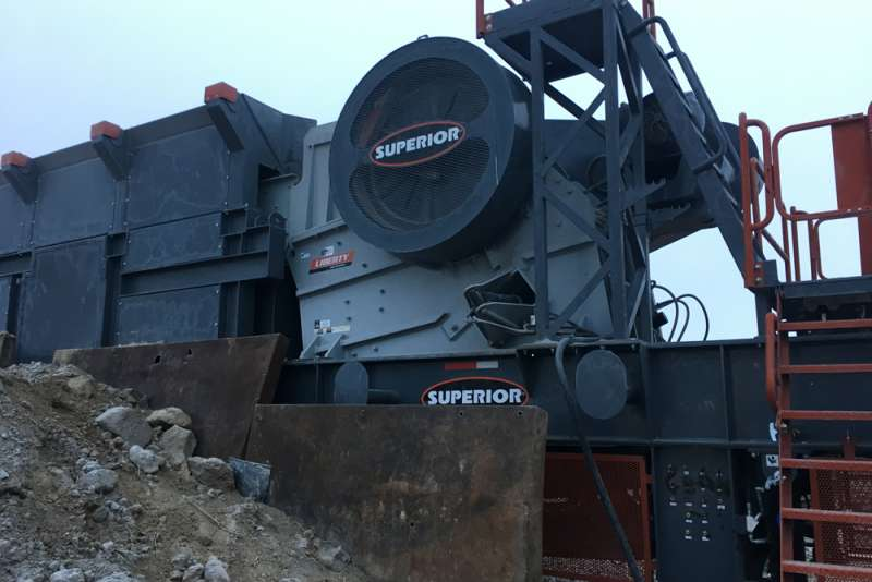 Superior Liberty primary jaw crusher