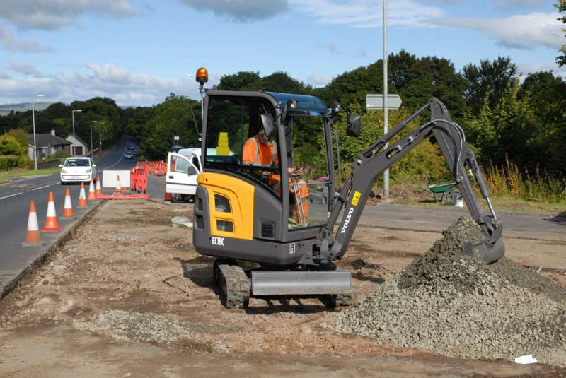 Volvo compact excavators for new Ayrshire groundworks and