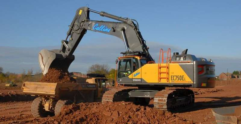 Collins Earthworks Take Uk S First Volvo Ec750e Agg Net