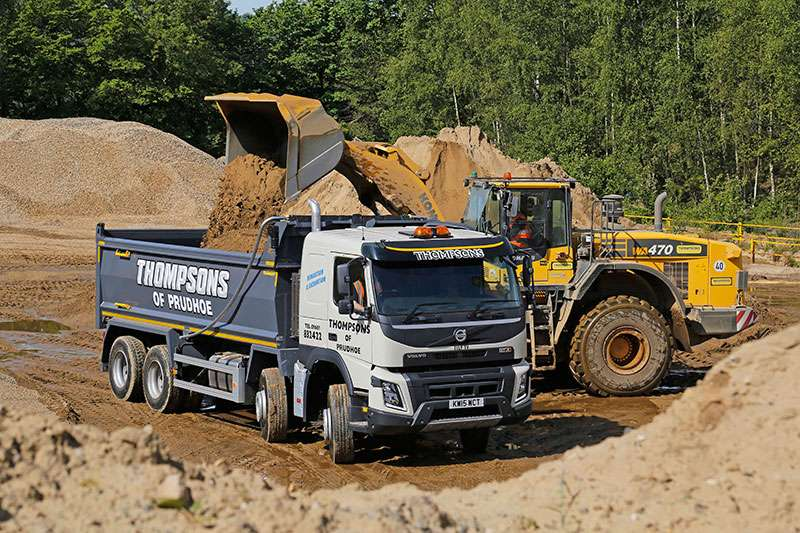 Volvo FMX truck with Thompson Loadmaster Lite bodies