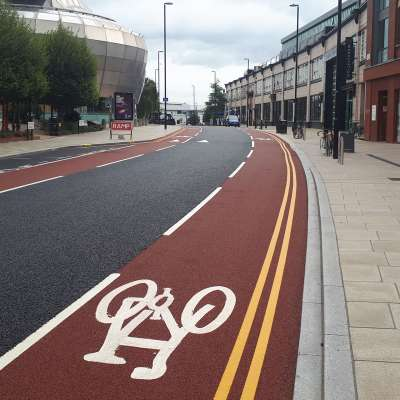 Cycle lane demarcation