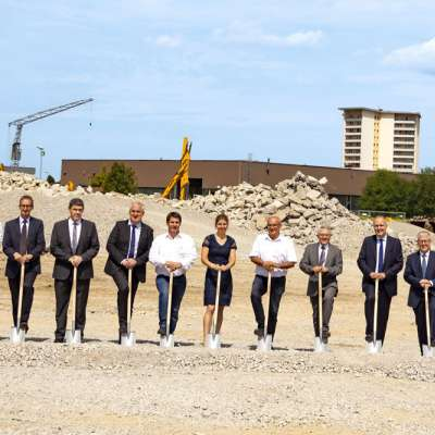 Liebherr ground-breaking ceremony